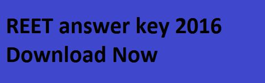 REET Answer Key 2016