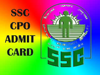 SSC CPO Admit Card 2016 Download Hall Ticket