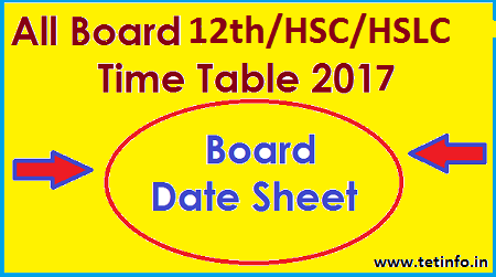 12th Date Sheet 2017